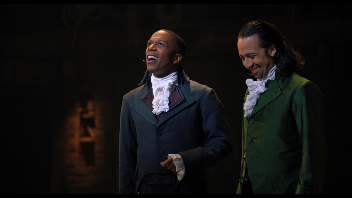 Leslie Odom Jr and Lin-Manuel Miranda in Hamilton on Disney+ - 1/21 - Disney+