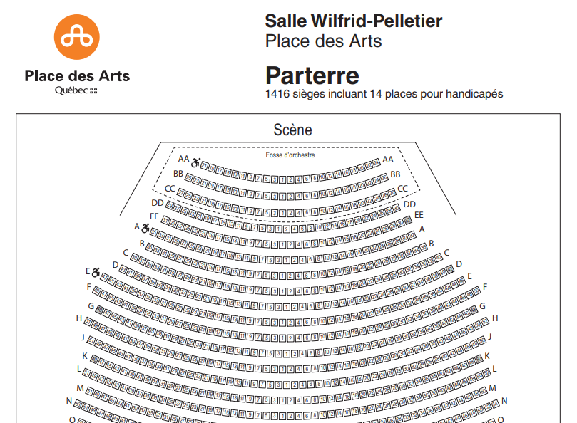 Place des Arts Seat Map