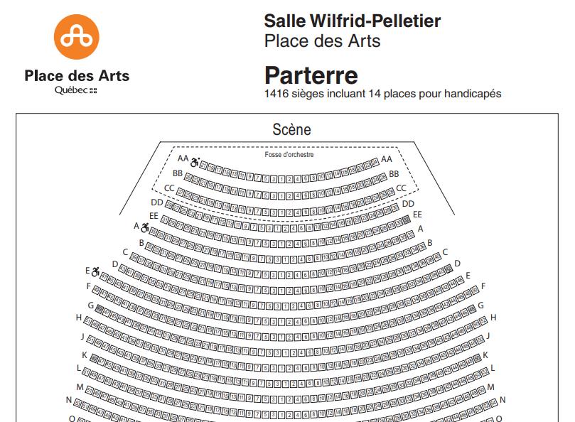 Place des Arts Seat Map